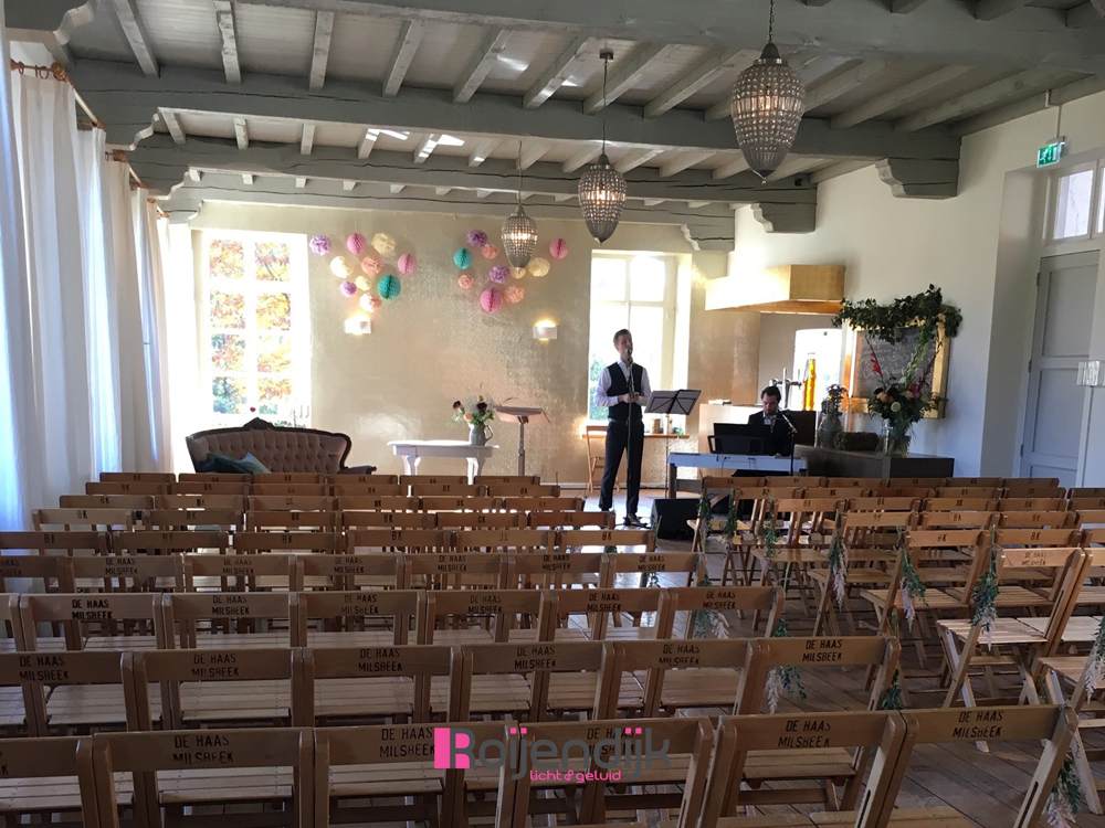 Kasteel Tongelaar, Mill, Roijendijk Licht En Geluid, RLG,R-lg, geluid, zang, live, bruiloft